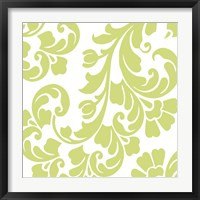 Calyx Damask Framed Print