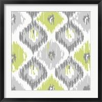 Calyx Ikat Framed Print