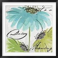Framed Daisy Morning II