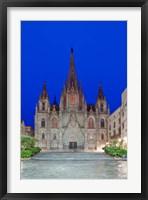 Framed Gothic Quarter, Barcelona Cathedral, Barcelona, Spain