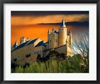 Framed Alcazar castle at sunset, Segovia, Spain