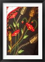 Framed Costume Fabric, Tenerife, Canary Islands, Spain