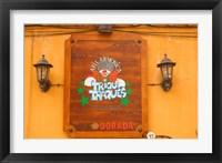 Framed Sign on Tenerife, Canary Islands, Spain