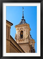 Framed Spain, Granada Bell tower of the Church of San Justo y Pastor