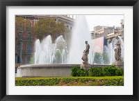 Framed Placa de Catalunya, Barcelona, Spain
