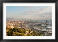 Framed View of Barcelona from Mirador del Alcade, Barcelona, Spain