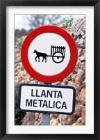 Framed Spain, Majorca, Road Sign