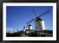 Framed Windmills, Consuegra, La Mancha, Spain