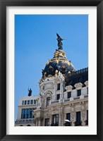 Framed Spain, Madrid Metropolis building on Grand Via