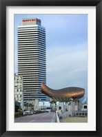 Framed Olympic Port with Metal Mesh Fish by Frank O Gehry, Barcelona, Spain