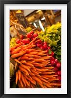 Framed Carrots, Central Market, Malaga, Spain