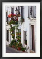 Framed Spain, Andalucia Region, Cadiz, Grazalema Potted plants by a home