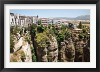 Framed Spain, Andalusia, Malaga Province Hillside town of Ronda