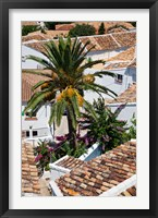 Framed Spain, Andalusia, Zahara Rooftops in the Andalusian White Village