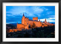 Framed Spain, Segovia Alcazar Castle at Sunset
