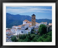 Framed White Village of Algatocin, Andalusia, Spain