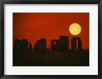 Framed Monoliths of Stonehenge near Salisbury, England