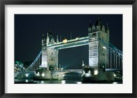 Framed Tower Bridge at Night, London, England