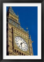 Framed Big Ben Clock Tower on Parliament Building in London, England