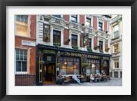 Framed Sherlock Holmes, Pub, London, England