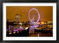 Framed England, London River Thames and London Eye
