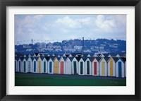 Framed Beach Huts of Paignton, Devon, England