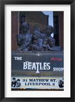 Framed Beatles Shop, Mathew Street, Liverpool, England