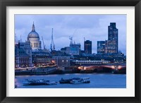 Framed View of Thames River, London, England