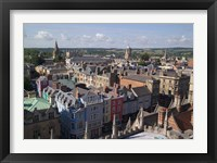 Framed High Street and Christchurch College, Oxford, England