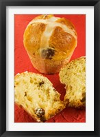 Framed Hot cross buns, an English Easter specialty