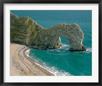Framed Durdle Door in Lulworth Cove, Dorset, England