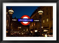 Framed England, London Subway, Tube Entrance