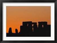 Framed England, Salisbury Plain, Stonehenge Sunset