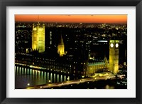 Framed Big Ben and the Houses of Parliament at Dusk, London, England