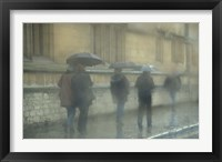Framed Walking in the rain, Oxford University, England
