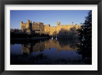 Framed Sunset on Leeds Castle, Leeds, England