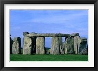 Framed Abstract of Stones at Stonehenge, England