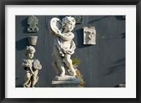 Framed Greece, Ionian Islands, Kefalonia, Cherub Statue