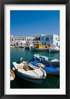Framed Fishing Boats in Naoussa, Paros, Greece