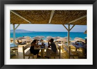Framed St Stefanos Beach, Mykonos, Greece