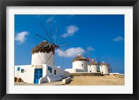 Framed Traditional Windmill, Mykonos, Greece