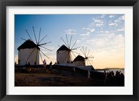 Framed Famous Windmills, Hora, Mykonos, Greece
