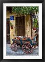 Framed Old Wagon Cart, Chania, Crete, Greece