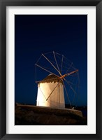 Framed Windmill, Chora, Mykonos, Cyclades, Greece
