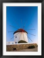 Framed Greece, Mykonos, Hora, Windmills