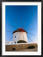 Framed Greece, Mykonos, Hora, Windmills