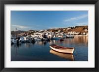 Framed Boats in harbor, Chora, Mykonos, Greece
