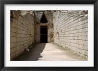 Framed Greece, Peloponnese, Mycenaen art, Tomb of Clitmenestra