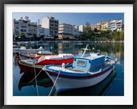 Framed Boats on The Lake, Agios Nikolaos, Crete, Greece