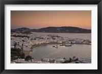 Framed Just After Sunset, Hora, Mykonos, Greece